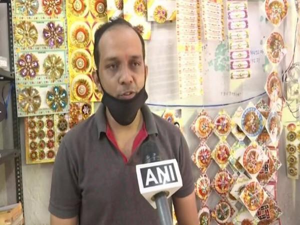 A Shopkeeper from Hyderabad. (Photo/ANI)