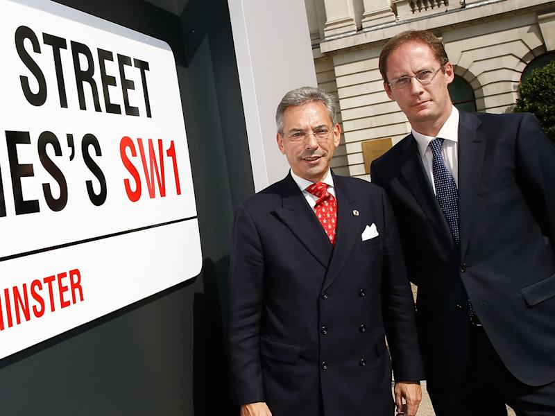 Westminster City Council Councillor Robert Davis (L) and Head of the St. James's Portfolio James Cooksey (R): Getty Images