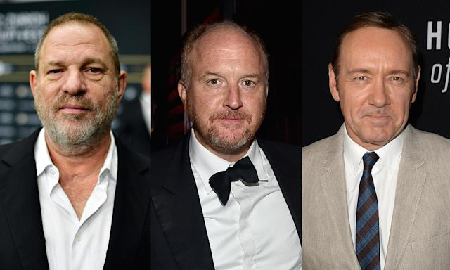 "<p>When the <em>New York Times</em> first published its bombshell report in early October alleging that Harvey Weinstein had committed sexual assault and misconduct, Hollywood wasn't ready for the avalanche it created in its wake. Nearly 90 women — <a href=""https://www.yahoo.com/entertainment/gwyneth-paltrow-angelina-jolie-others-say-harvey-weinstein-harassed-192200041.html"" data-ylk=""slk:including Angelina Jolie and Gwyneth Paltrow;outcm:mb_qualified_link;_E:mb_qualified_link"" class=""link rapid-noclick-resp newsroom-embed-article"">including Angelina Jolie and Gwyneth Paltrow</a> — have accused the disgraced producer of harassment, misconduct, and/or assault. (Weinstein has denied any allegations of nonconsensual sex.) What followed was a string of accusations against many powerful men in Hollywood, among them <a href=""https://www.yahoo.com/news/former-today-staffer-says-consensual-162445297.html"" data-ylk=""slk:Matt Lauer;outcm:mb_qualified_link;_E:mb_qualified_link"" class=""link rapid-noclick-resp newsroom-embed-article"">Matt Lauer</a>, <a href=""https://www.yahoo.com/entertainment/former-theater-student-kevin-spacey-says-sexual-relationship-actor-age-14-221544796.html"" data-ylk=""slk:Kevin Spacey;outcm:mb_qualified_link;_E:mb_qualified_link"" class=""link rapid-noclick-resp newsroom-embed-article"">Kevin Spacey</a>, <a href=""https://www.yahoo.com/entertainment/louis-c-k-issues-apology-182731068.html"" data-ylk=""slk:Louis C.K.;outcm:mb_qualified_link;_E:mb_qualified_link"" class=""link rapid-noclick-resp newsroom-embed-article"">Louis C.K.</a>, <a href=""https://www.yahoo.com/entertainment/ellen-page-says-brett-ratner-191446496.html"" data-ylk=""slk:Brett Ratner;outcm:mb_qualified_link;_E:mb_qualified_link"" class=""link rapid-noclick-resp newsroom-embed-article"">Brett Ratner</a>, <a href=""https://www.yahoo.com/entertainment/russell-simmons-accused-rape-three-001135208.html"" data-ylk=""slk:Russell Simmons;outcm:mb_qualified_link;_E:mb_qualified_link"" class=""link rapid-noclick-resp newsroom-embed-article"">Russell Simmons</a>, and <a href=""https://www.yahoo.com/entertainment/jeffrey-tambor-exits-transparent-sexual-214129750.html"" data-ylk=""slk:Jeffrey Tambor;outcm:mb_qualified_link;_E:mb_qualified_link"" class=""link rapid-noclick-resp newsroom-embed-article"">Jeffrey Tambor</a>, as well as people sharing their stories in the <a href=""https://finance.yahoo.com/news/too-alyssa-milano-elevates-harvey-weinstein-conversation-070035946.html"" data-ylk=""slk:#MeToo movement;outcm:mb_qualified_link;_E:mb_qualified_link"" class=""link rapid-noclick-resp newsroom-embed-article"">#MeToo movement</a>. (Photo: Getty Images) </p>"