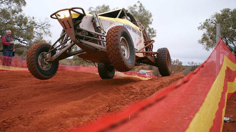 A person is believed to have died during the Finke Desert Race in the Northern Territory on Monday. Picture: AAP