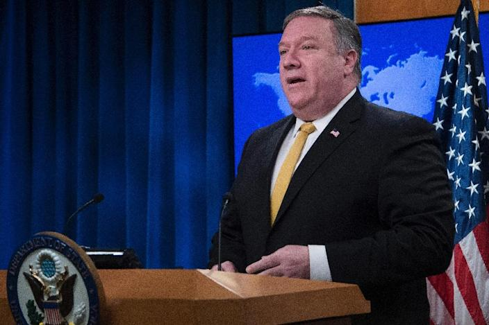 US Secretary of State Mike Pompeo wants Iran to withdraw from war-ravaged Syria, where it is a critical ally of President Bashar al-Assad (AFP Photo/Jim WATSON)