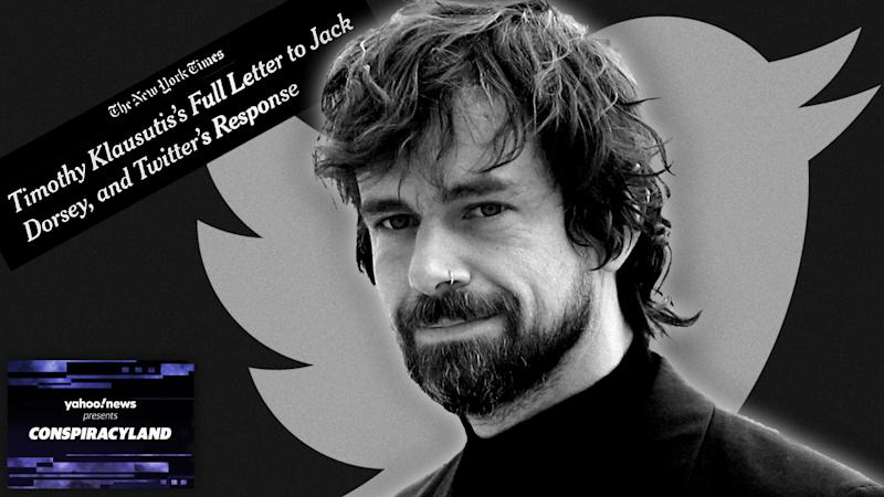 Twitter CEO Jack Dorsey and the New York Times headline. (Photo illustration: Yahoo News; photos: AP (2), NYT)