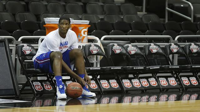 Joel Embiid to undergo surgery for stress fracture in right foot, shaking up race for No. 1 draft pick