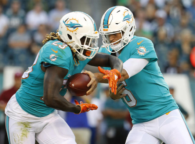 "The <a class=""link rapid-noclick-resp"" href=""/nfl/teams/mia/"" data-ylk=""slk:Miami Dolphins"">Miami Dolphins</a>' season opener could be rescheduled due to a hurricane. (AP)"