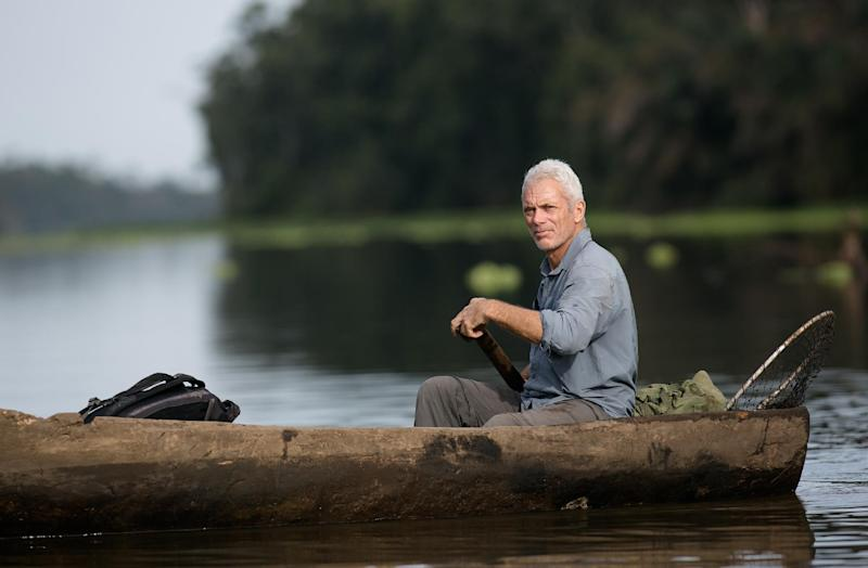 "This image released by Animal Planet shows Jeremy Wade, host of ""River Monsters."" The sixth season premieres Sunday, April 6, at 9 p.m. EDT on Animal Planet. (AP Photo/Animal Planet, Tito Herrera)"