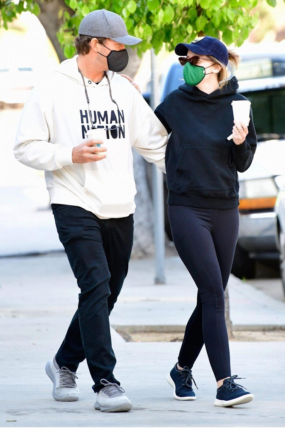 <p>Chris Pratt and Katherine Schwarzenegger keep it casual for a morning coffee run in L.A. on Tuesday.</p>