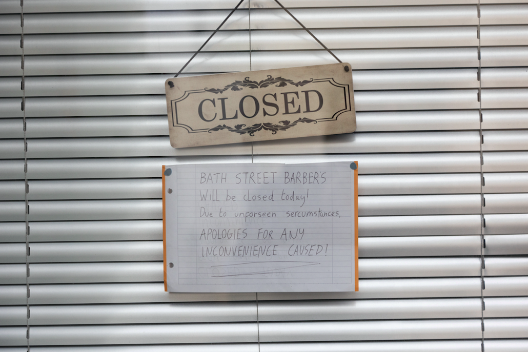 Bath Street Barbers announced they were closing for 'unforeseen circumstances'. (SWNS)