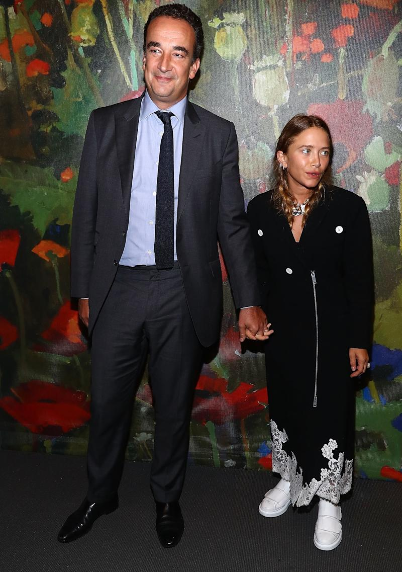 Olivier Sarkozy and Mary-Kate Olsen attend an art party and auction at Sotheby's on October 11, 2017.