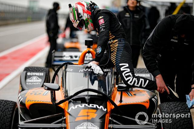 """O'Ward will never give less than his all, from first to last lap but can still learn from Askew. <span class=""""copyright"""">Barry Cantrell</span>"""