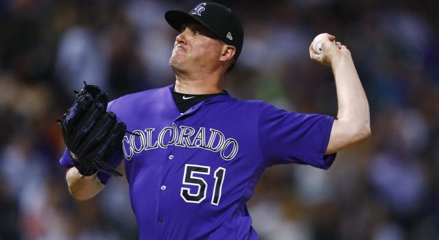Colorado Rockies relief pitcher Jake McGee had a bounce-back season in 2017. (David Zalubowski/AP)