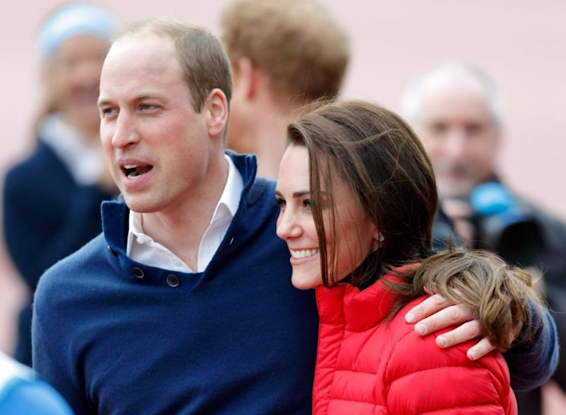 Kate and Wills very rarely put on a show of physical affection. Photo: Getty