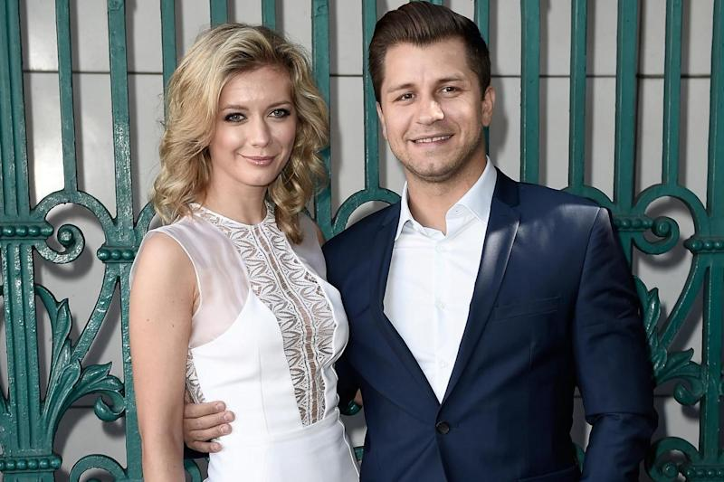 Pasha Kovalev with his wife and fellow Strictly contestant, Rachel Riley (Getty Images)