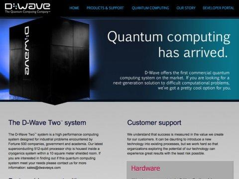 d wave quantum computing