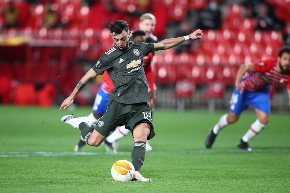 Bruno Fernandes strikes from the spot (Getty Images)