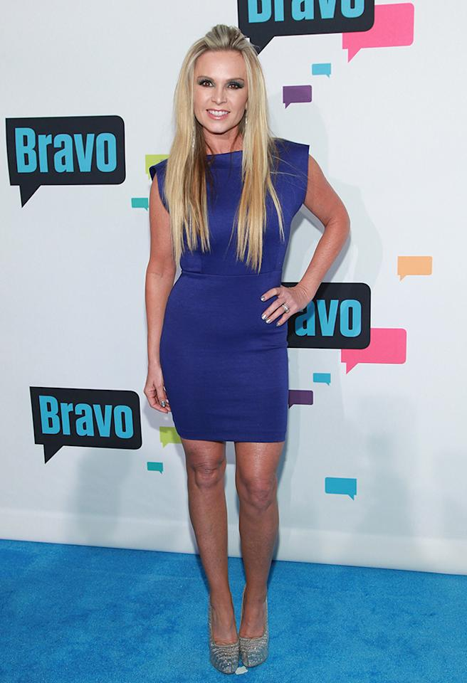 "NEW YORK, NY - APRIL 03:  TV personality Tamra Barney of ""The Real Housewives of Orange County"" attends the 2013 Bravo Upfront at Pillars 37 Studios on April 3, 2013 in New York City.  (Photo by Taylor Hill/FilmMagic)"