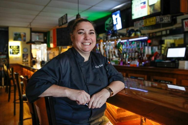 "Kari Walker, co-owner of the Touchdown Tavern, says she was ""appalled"" by President Donald Trump"