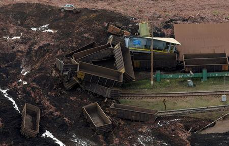 FILE PHOTO: General view from above of a dam owned by Brazilian miner Vale SA that burst, in Brumadinho, Brazil January 25, 2019. REUTERS/Washington Alves/File photo