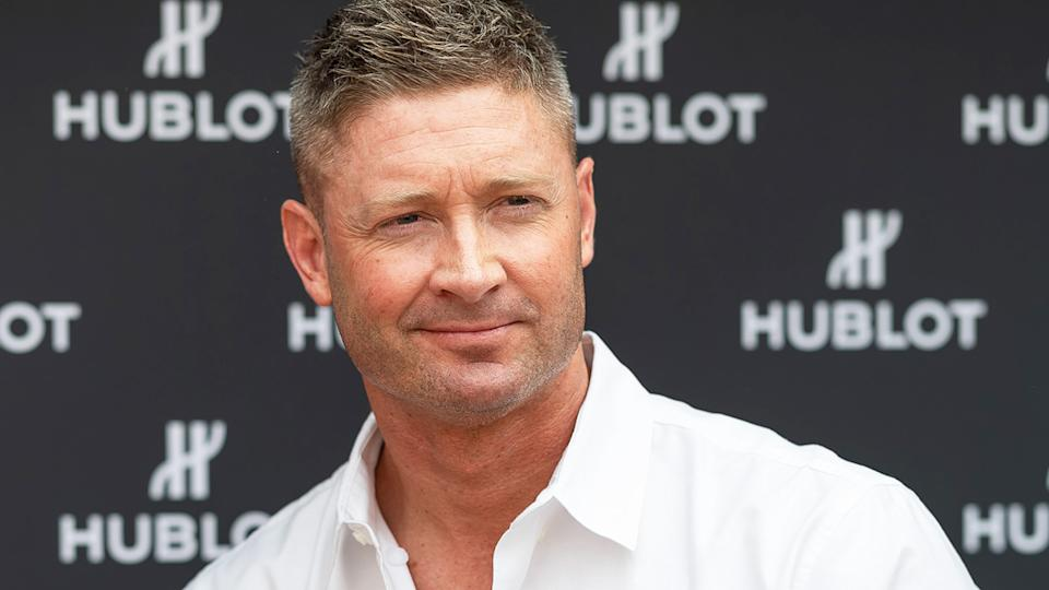 Former Australian cricket captain Michael Clarke confirmed he was a late withdrawal from filming the third season of SAS Australia after suffering a back injury while training for the show. (Photo by Wendell Teodoro/Getty Images)