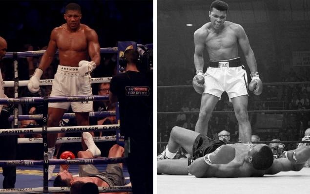 Joshua's eventual triumph over Klitschko looked a lot like one of the greatest moments in boxing history - Sean Dempsey/EPA/Bettmann Archive