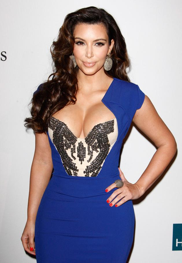 9. US reality TV star Kim Kardashian took the number nine spot / WENN