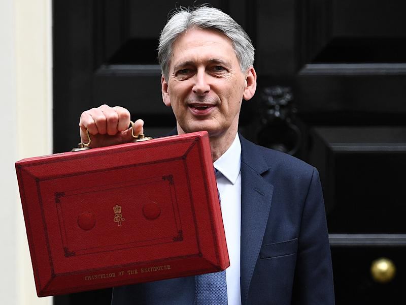 Philip Hammond is due to deliver the 2017 Budget tomorrow: AFP