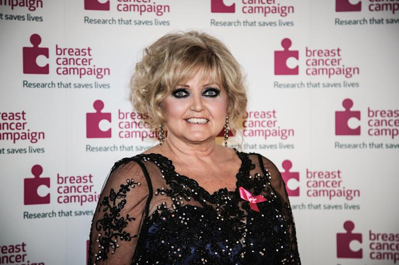 Linda Nolan arriving at the Breast Cancer Campaign's Pink Ribbon Ball at the Natural History Museum in London.