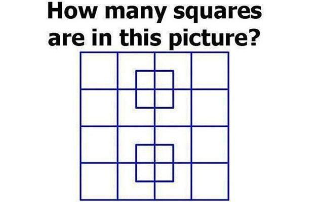 Can you find all the squares? Photo: Playbuzz