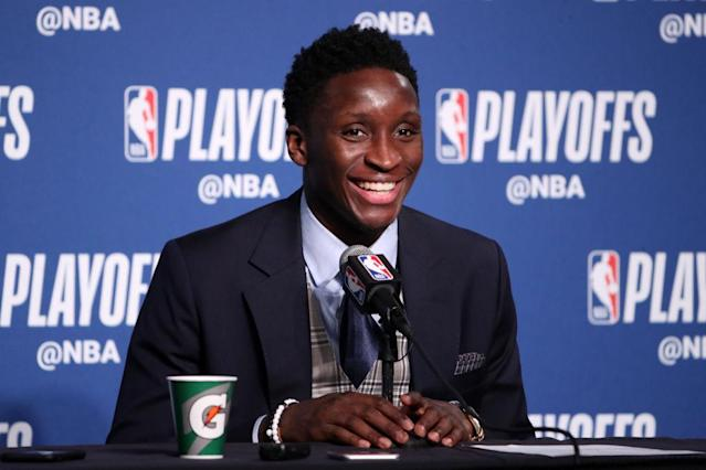 "Pacers star <a class=""link rapid-noclick-resp"" href=""/nba/players/5153/"" data-ylk=""slk:Victor Oladipo"">Victor Oladipo</a> will bring a smile to your face. (Getty Images)"