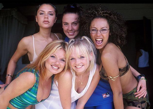 Mel C pictured with her Spice Girl bandmates at the height of their success. Source: Getty