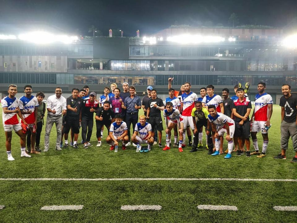 Warriors FC players and staff during their 2019 Singapore Cup campaign, in which they finished runners-up (PHOTO: Warriors FC/Facebook)