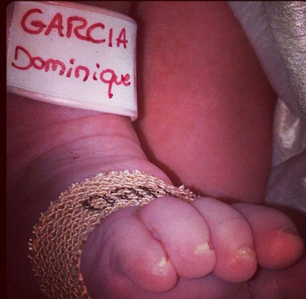 Falcao's baby daughter has been born.