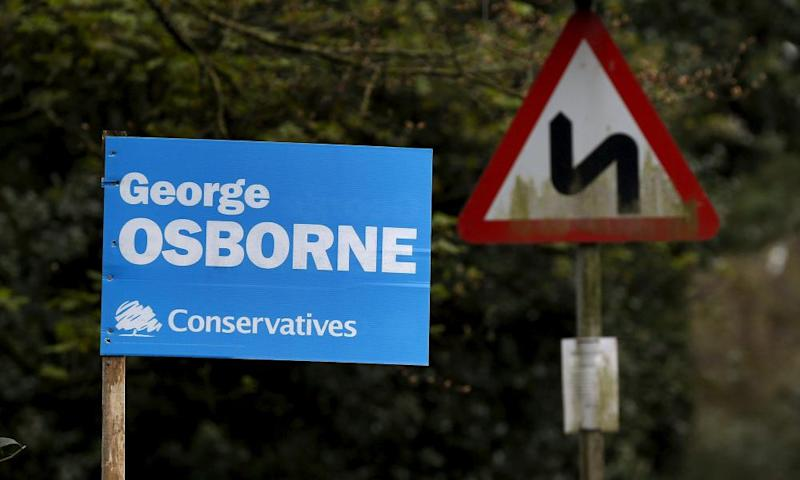 A sign in George Osborne's Tatton constituency before the last election.