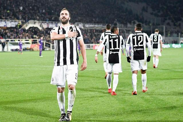 Juventus striker Gonzalo Higuain is expected to be fit to play against Tottenham in the Champions League next month despite suffering an ankle sprain in Serie A action at the weekend.