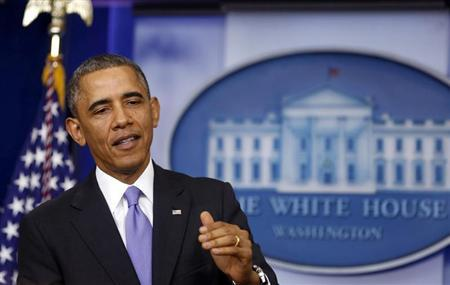 U.S. President Obama talks about the Affordable Care Act at the White House in Washington