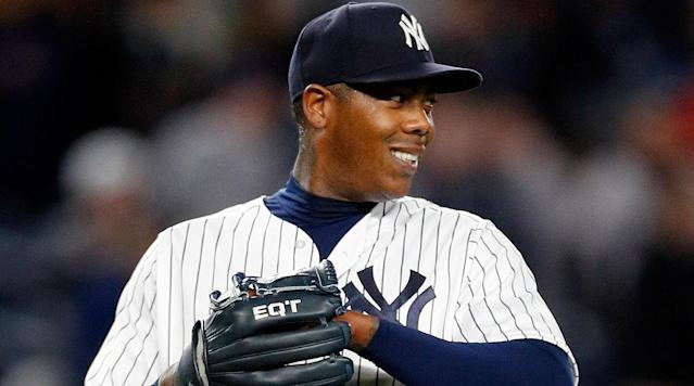<p>New York Yankees closer Aroldis Chapman was allowed to travel to Cuba for the first time in more than eight years and he received a warm welcome in his hometown of Holguin during the off-season, according to ESPN's Marly Rivera.</p><p>In July 2009, Chapman defected from Cuba when he left the national team during a tournament in the Netherlands and headed to Amsterdam and Barcelona. He eventually landed in Andorra in the Pyrenees, where he established residency that allowed him to become a free agent under baseball's rules. He attempted to defect in 2008 and was unsuccessful so Cuba kept him off the 2008 Olympic team in Beijing. </p><p><em>Watch Chapman make his return below:</em></p><p>Chapman is coming off a season in which he recorded 22 saves with a 3.22 ERA and 69 strikeouts in 50 1/3 innings. He turns 30 years old later this month.</p>