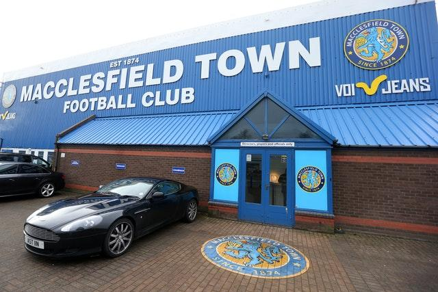 Macclesfield have been charged by the EFL over the non-payment of players (Dave Thompson/PA)