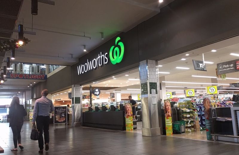 The woman was not impressed with there being animal meat in the plant-based fridge at a Melbourne Woolworths. Source: Google Maps