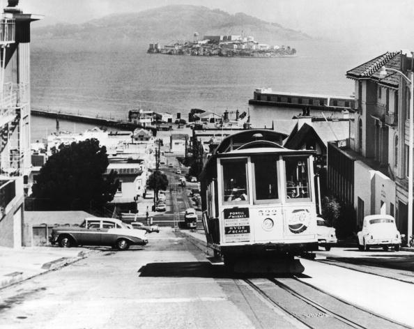 UNITED STATES - JANUARY 01:  Overall View Of The Alcatraz Prison Pictured From The San Francisco Bay In 1962. After Having Opened On October 12, 1933, The Alcatraz Penitentiary Was Officially Closed Up On March 21, 1963.  (Photo by Keystone-France/Gamma-Keystone via Getty Images)