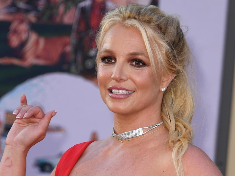 Britney Spears at a movie premiere in Hollywood, California on 22 July 2019: VALERIE MACON/AFP via Getty Images