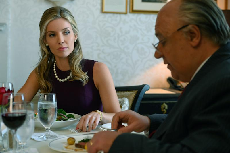 """Annabelle Wallis and Russell Crowe in """"The Loudest Voice."""" (Photo: JoJo Whilden/SHOWTIME.)"""
