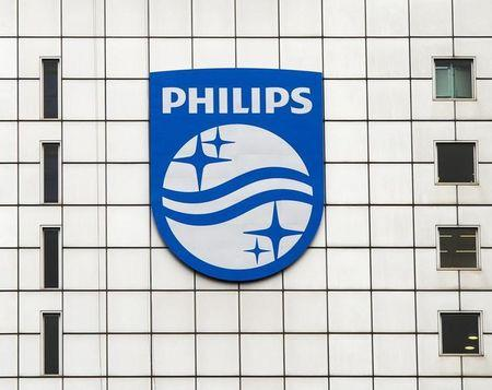 A Philips logo is seen at Philips headquarters in Amsterdam