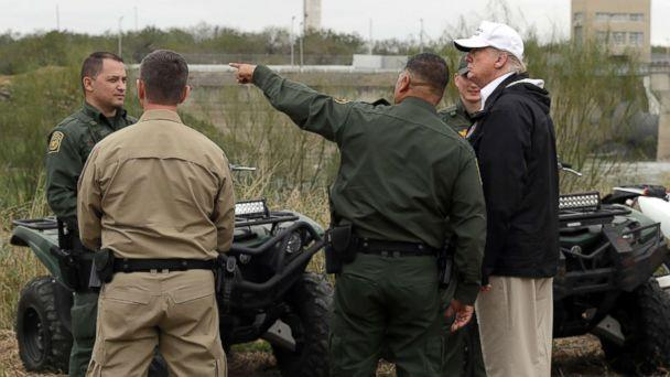 PHOTO: President Donald Trump tours the U.S. border with Mexico at the Rio Grande on the southern border, Jan. 10, 2019, in McAllen, Texas. (Evan Vucci/AP)