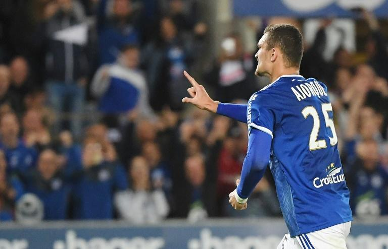 Ludovic Ajorque earned Strasbourg their first Ligue 1 win of the season