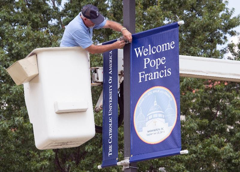 The welcome from some American politiciansfor Pope Francis is expected to be chilly (AFP Photo/Paul J. Richards)