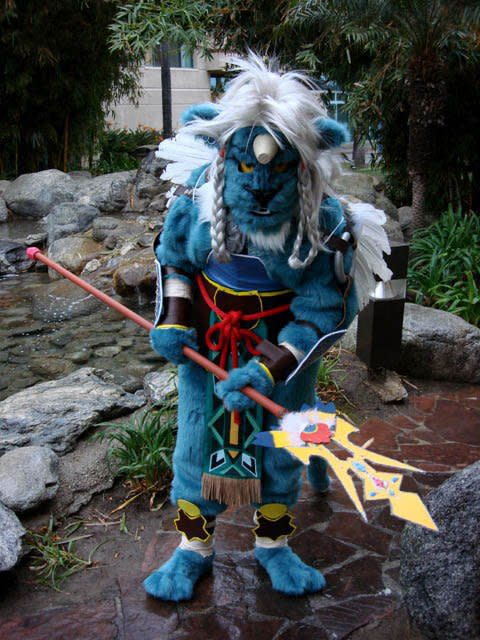 Best Video Game Costume  The Final Fantasy X video game is brought to life with Elena's Kimahri Ronso costume.