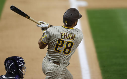 Pham, Tatis homer in 9th, Padres rally for 8-7 win over Rox