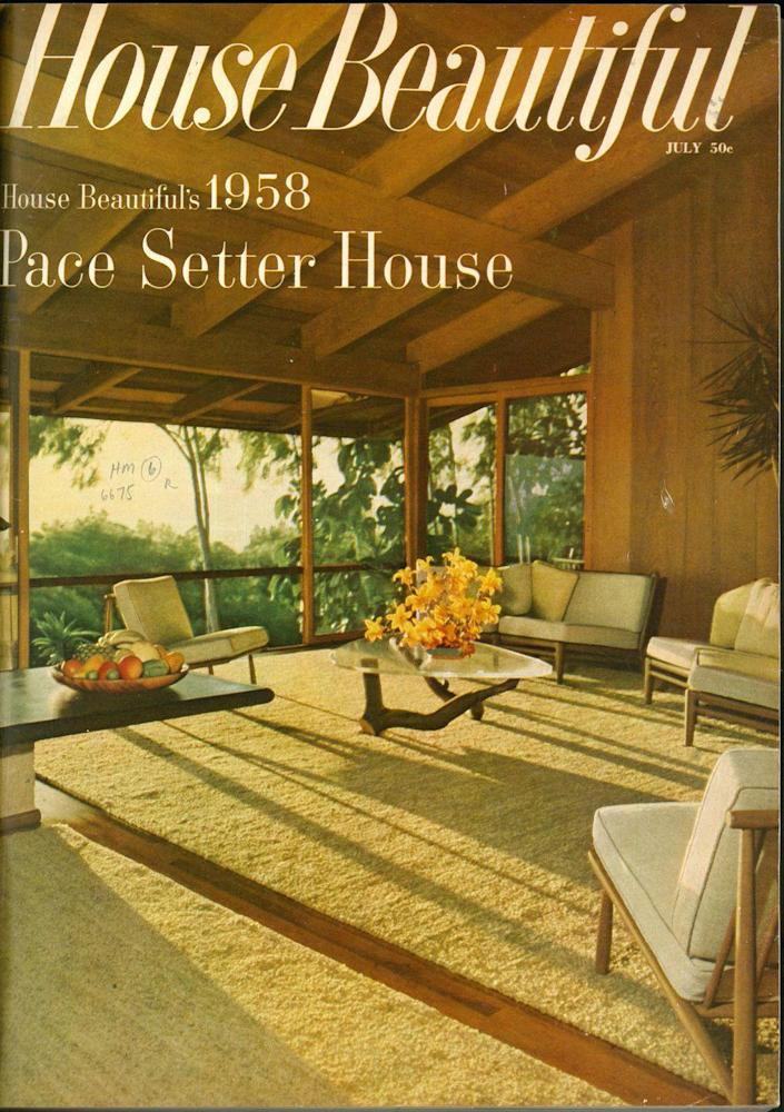 """<p>The Pace Setter Houses were a result of a program by then Editor-in-Chief Elizabeth Gordon to reimagine modern living. Gordon was also an early champion of Frank Lloyd Wright, who was designing <a href=""""https://www.housebeautiful.com/design-inspiration/home-makeovers/a30291141/sarah-magness-frank-lloyd-wright/"""" rel=""""nofollow noopener"""" target=""""_blank"""" data-ylk=""""slk:pre-fab houses"""" class=""""link rapid-noclick-resp"""">pre-fab houses</a> around the same time. </p>"""
