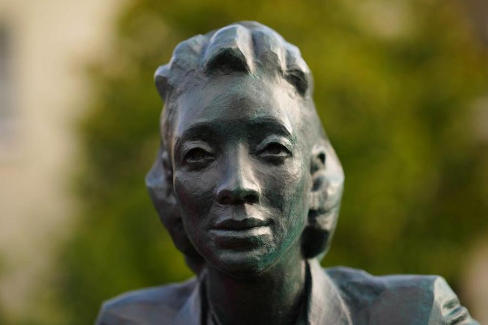 The statue of Henrietta Lacks is the first statue in the UK of a black woman to have been created by a black woman (Ben Birchall/PA) (PA Wire)