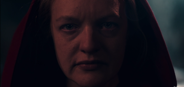 June (Elisabeth Moss) in the Season 2 finale of <em>The Handmaid's Tale</em>. (Photo: Hulu)
