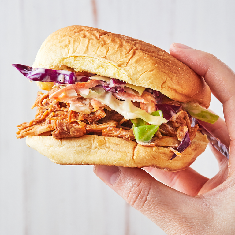 """<p><a href=""""https://www.delish.com/uk/cooking/recipes/a29185240/slow-cooker-pulled-pork-recipe/"""" rel=""""nofollow noopener"""" target=""""_blank"""" data-ylk=""""slk:Pulled"""" class=""""link rapid-noclick-resp"""">Pulled</a> chicken is made so easy in the <a href=""""https://www.delish.com/uk/food-news/a30469430/slow-cooker-hacks-tricks-tips/"""" rel=""""nofollow noopener"""" target=""""_blank"""" data-ylk=""""slk:slow cooker"""" class=""""link rapid-noclick-resp"""">slow cooker</a> and this version includes brown sugar, a little Italian dressing, and bourbon for a bit of smokiness. </p><p>Get the <a href=""""https://www.delish.com/uk/cooking/recipes/a32027790/brown-sugar-bbq-chicken-recipe/"""" rel=""""nofollow noopener"""" target=""""_blank"""" data-ylk=""""slk:Brown Sugar BBQ Chicken"""" class=""""link rapid-noclick-resp"""">Brown Sugar BBQ Chicken</a> recipe.</p>"""